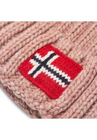 Napapijri - Czapka NAPAPIJRI - Semiury 4 NP0A4EQH Pink Woodrose PA41. Kolor: różowy. Materiał: akryl, wełna, wiskoza, materiał