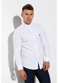 Biała koszula Edward Orlovski z krótkim rękawem, elegancka