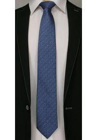 Niebieski Elegancki Krawat -Angelo di Monti- 7 cm, Męski, Melanż w Różowe Kropki. Kolor: niebieski, różowy, wielokolorowy. Wzór: grochy. Styl: elegancki