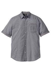 Koszula z krótkim rękawem bonprix czarno-biały w kratę. Kolor: czarny. Długość rękawa: krótki rękaw. Długość: krótkie