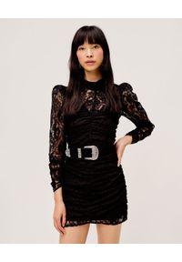 For Love & Lemons - FOR LOVE & LEMONS - Koronkowa sukienka Aiden Mini. Okazja: na imprezę, na randkę. Kolor: czarny. Materiał: koronka. Długość: mini