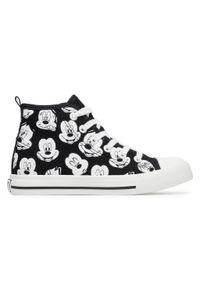 Czarne buty zimowe Mickey&Friends z cholewką, młodzieżowe