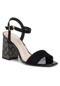 Czarne sandały Loretta Vitale na co dzień, casualowe