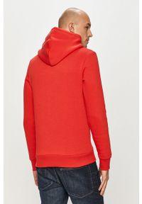 Czerwona bluza nierozpinana Jack & Jones z kapturem, z nadrukiem, na co dzień