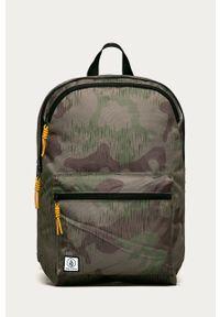 Zielony plecak Volcom z nadrukiem