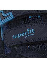 Niebieskie półbuty Superfit z cholewką, na rzepy, na spacer #7