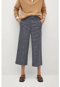Czarne spodnie materiałowe mango
