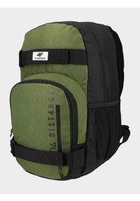 4f - Plecak miejski. Kolor: oliwkowy, brązowy, wielokolorowy. Materiał: poliester