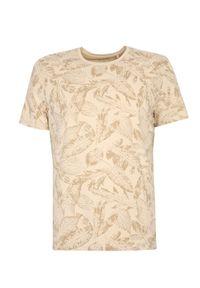 TOP SECRET - T-shirt z nadrukowanym wzorem. Okazja: do pracy. Kolor: beżowy. Materiał: bawełna, tkanina. Długość rękawa: krótki rękaw. Długość: krótkie. Sezon: jesień #6