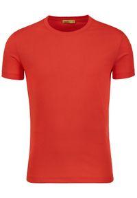 Czerwony t-shirt Versace Jeans