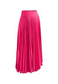 LA MANIA - Plisowana spódnica Lang w kolorze różowym. Kolor: wielokolorowy, różowy, fioletowy. Materiał: materiał #2