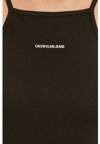 Czarna sukienka Calvin Klein Jeans gładkie, prosta
