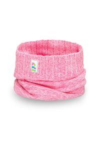 Wiosenny komin dziewczęcy PaMaMi - Jasny róż. Kolor: różowy. Materiał: bawełna, elastan. Sezon: wiosna