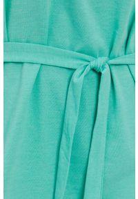 Jacqueline de Yong - Sukienka. Okazja: na co dzień. Kolor: zielony. Materiał: dzianina. Wzór: gładki. Typ sukienki: proste. Styl: casual
