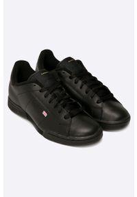 Czarne sneakersy Reebok Classic z okrągłym noskiem, z cholewką, Reebok Classic #6