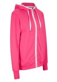 Różowa bluza bonprix z kapturem