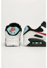 Białe buty sportowe Nike Sportswear na sznurówki, z cholewką, z okrągłym noskiem