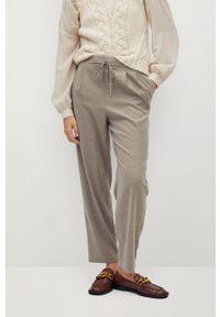 Brązowe spodnie materiałowe mango casualowe, na co dzień, melanż