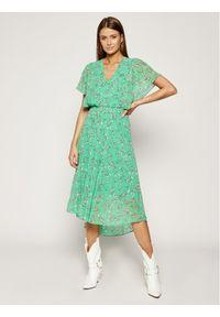 Zielona sukienka DKNY na co dzień, casualowa, prosta