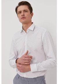 Biała koszula Hugo z klasycznym kołnierzykiem, długa, klasyczna, z długim rękawem