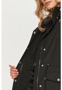 Czarna kurtka Vero Moda gładkie, z kapturem
