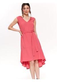 Różowa sukienka TOP SECRET koszulowa