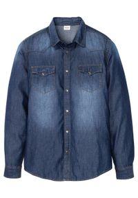 """Koszula dżinsowa Slim Fit, długi rękaw bonprix ciemnoniebieski denim """"uesd"""". Kolor: niebieski. Materiał: denim. Długość rękawa: długi rękaw. Długość: długie"""