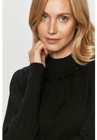 Czarny sweter Silvian Heach na co dzień, z długim rękawem, klasyczny, długi