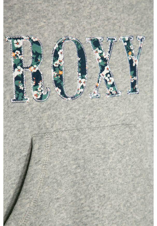 Szara bluza Roxy casualowa, z kapturem, na co dzień