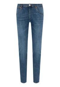 Wrangler Jeansy Western W1MZXG13U Niebieski Slim Fit. Kolor: niebieski. Materiał: jeans, elastan, bawełna