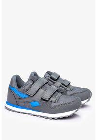 Szare buty sportowe Casu na rzepy