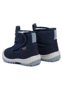 Niebieskie buty zimowe Froddo z cholewką