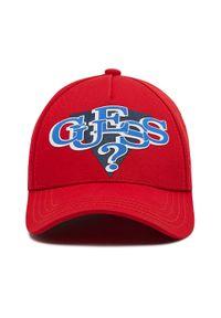 Guess - Czapka z daszkiem GUESS - Delsin Logo ABDEL1 CO213 RED. Kolor: czerwony. Materiał: bawełna, materiał