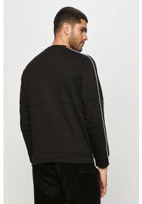 Czarna bluza nierozpinana Armani Exchange bez kaptura, na co dzień, casualowa