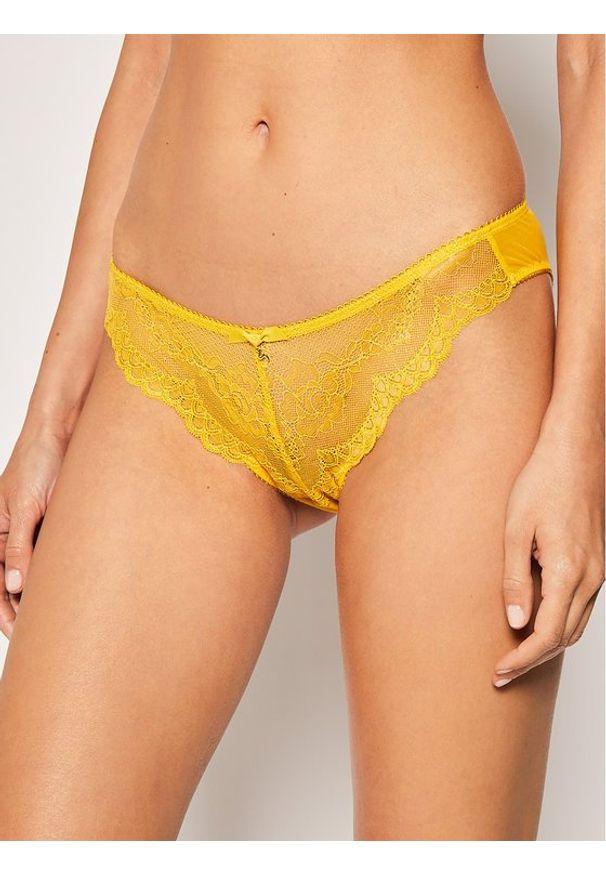 Gossard Figi klasyczne z wysokim stanem Superboost Lace 7723 Żółty. Stan: podwyższony. Kolor: żółty