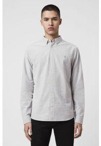 Szara koszula AllSaints klasyczna, długa