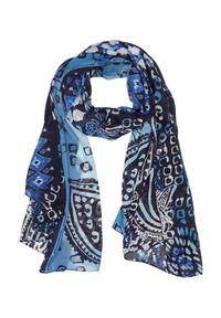 Niebieski szalik Cellbes w kolorowe wzory, elegancki