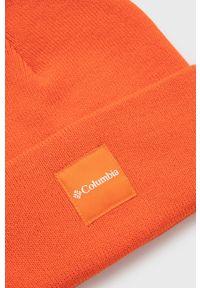 columbia - Columbia - Czapka. Kolor: pomarańczowy. Materiał: dzianina