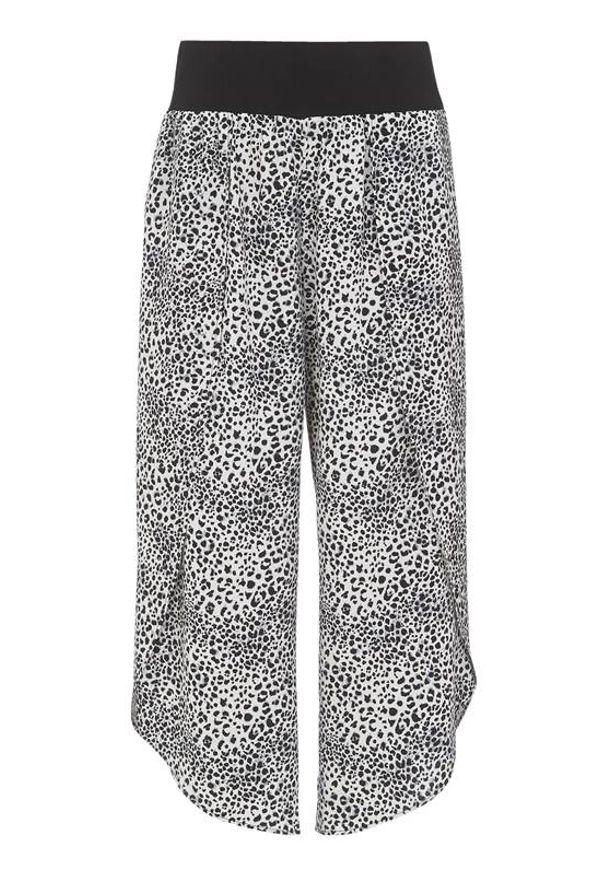 Cellbes Spodnie typu culotte z rozcięciami w cętki we wzory female ze wzorem 38/40. Materiał: tkanina, jersey
