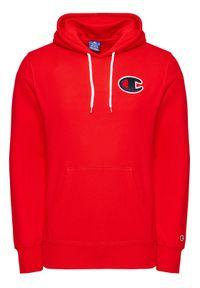 Champion Bluza Satin C Logo 214184 Czerwony Comfort Fit. Kolor: czerwony