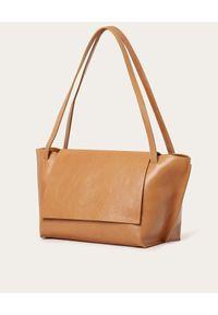 BALAGAN - Beżowa torba ISHA. Kolor: beżowy. Styl: biznesowy. Rodzaj torebki: na ramię