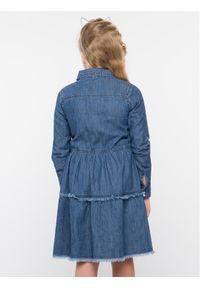 Niebieska sukienka Guess casualowa, prosta, na co dzień #5