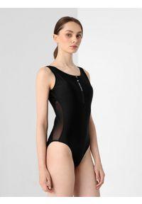 4f - Kostium kąpielowy damski. Kolor: czarny. Materiał: materiał