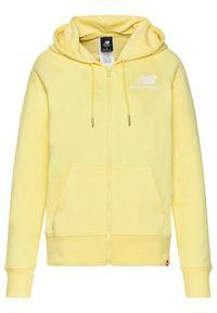 New Balance Bluza Essentials WJ03530 Żółty Relaxed Fit. Kolor: żółty