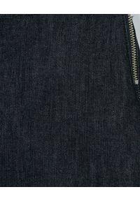 MONCLER KIDS - Spódnica z logo 8-14 lat. Kolor: niebieski. Materiał: materiał. Wzór: haft. Sezon: lato. Styl: elegancki