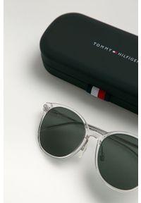 TOMMY HILFIGER - Tommy Hilfiger - Okulary przeciwsłoneczne. Kształt: owalne