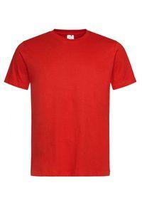 Czerwony t-shirt Stedman krótki, z krótkim rękawem