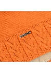 Zimowa czapka damska PaMaMi - Pomarańczowy. Kolor: pomarańczowy. Materiał: akryl. Sezon: zima #2