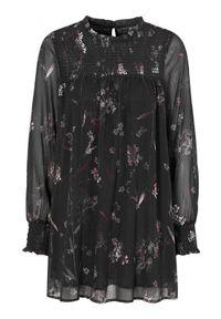 Czarna tunika Cellbes w kwiaty, elegancka