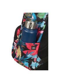 Czarny plecak AMERICAN TOURISTER w kwiaty